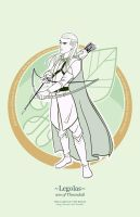 Legolas the elf prince by greenwindstudio