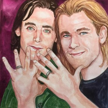 Loki and Thor: Celebration by golikethat