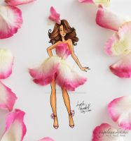 Pretty In Pink Petals by angelaaasketches