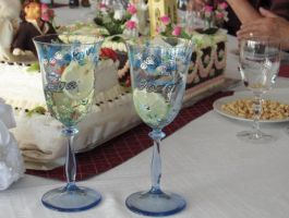 Wedding Glas painting front by Basike-Crowolf