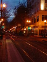 Portland at night by kabby88