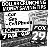 Dollar Crunching Newsprint Ad by PatrickJoseph