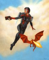 Jetpack flight by AleksiAh