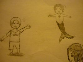 Drawings of Feliciano...Merman and Human 3 by Ti-Amo-Pasta