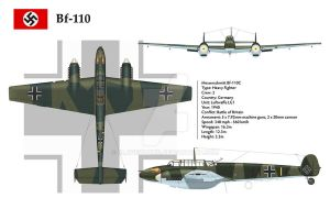 Bf-110C LG1 3-View by WS-Clave