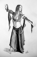 Belly Dancer by Delarti