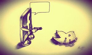 FACEBOOK VS TWITTER by myartisoriginal