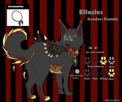 .:Commish:. Ellasies Reference Sheet by Howling-Okami