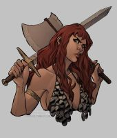 Red Sonja portrait by toherrys