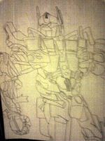 Optimus Prime Scetch by Steel-The-Cat-Hog