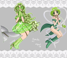 Magical girl redesign: Lettuce! by sanchoyo