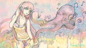 Luka and the big octopus by YangTuZhi