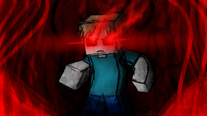 Herobrine's Blood Storm by owlmaddie