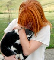 Ginger with Cat by Euphanasia7