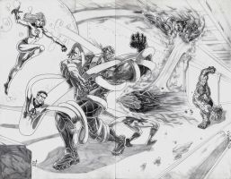 Fantastic Four vs. Super Skrull by jey2dworld