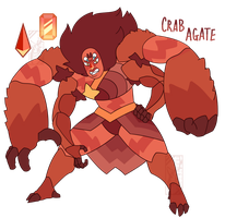 FUSION: Crab Agate by Deer-Head