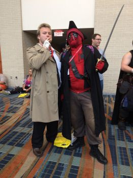 John and Deadpool Smoking Together by xenomorph2014