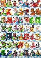 DCU New 52 Sketchcards by ronsalas