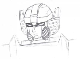 TF - Sunstreaker Head Sketch by BeeLovesCade