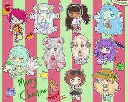 Merry Christmas Chibis 2012 by hazelt1995