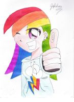 Human Rainbow Dash by Gifashion