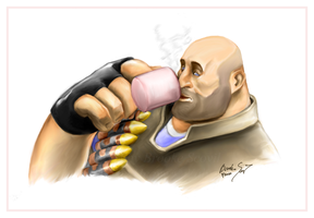 TF2 Casual Heavy by birdofyore