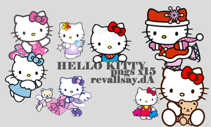 Hello Kitty PNGs by revallsay