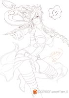 Lineart Vayne valentine by TORN-S