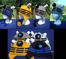 Dalek Hats - For the glory of Davros! by NerdyNeedles