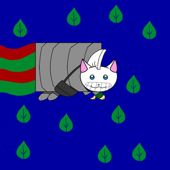 NYAN Cat by Canvasbirdie