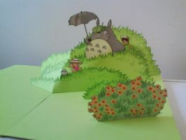 My Neighbor Totoro pop up by WillziakDS