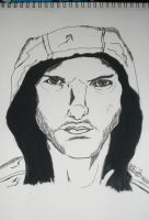 Tom Cruise Ink Sketch by Music---Junky
