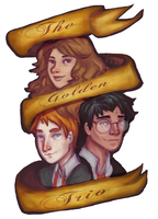 The Golden Trio by LuanneRare