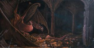 Smaug and his gold by Charles-Burggraf