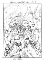 GREEN LANTERN 41 LAYOUT COVER by eddybarrows