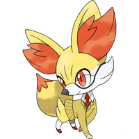 Fennekin with a suit by toamac