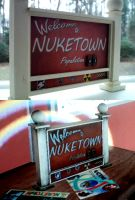 ...my miniature nuketown sign... by faustdavenport