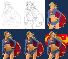 Supergirl - Process by Almayer