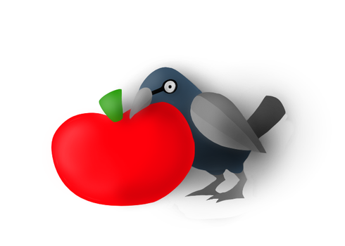 Aww Snapple! It's an Apple and a Grackle! by Numovum