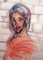 Water Color Girl by CourtHouse