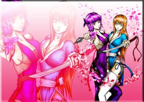 ayane and kasumi colour by lAffinityl