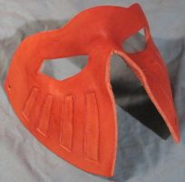 Leather half mask WIP by Armenoc