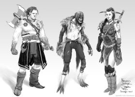 Neburas's pack, concepts by ElsaKroese