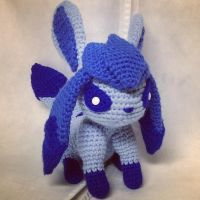 Glaceon (Crochet) by SirPurlGrey