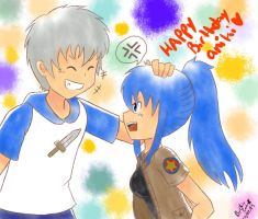 happy birthday aniki by inupuppy1412