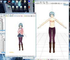 MMD - Miku Umbrella Wip by TheWalrusQueen