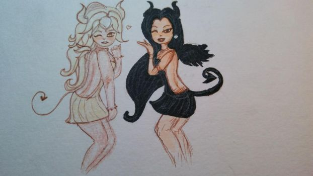 Demoness sisters by buburbuhas