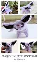 Inquisitive Espeon Plush by BeeZee-Art