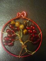 Crimson Seasons T.O.L pendant. by WyckedDreamsDesigns