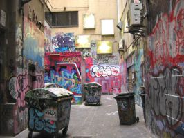 graffiti alley by andricongirl